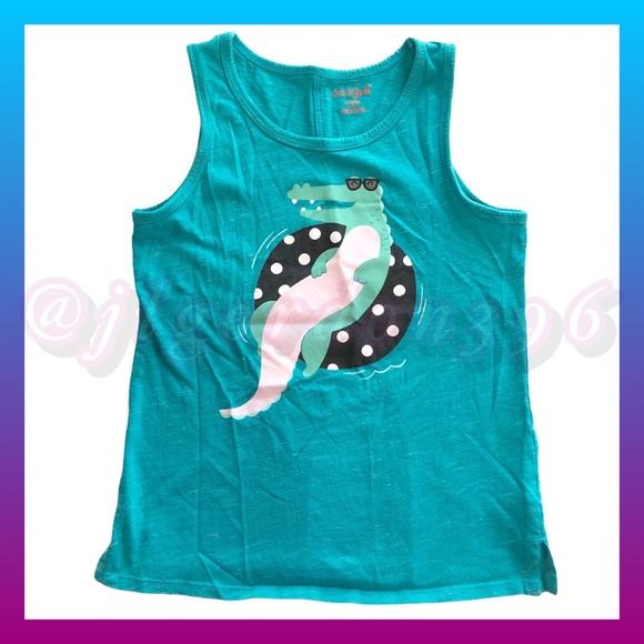 Cat & Jack Turquoise Alligator Tank Top Medium
